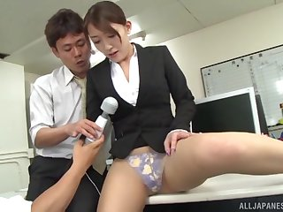 Hot meeting gangbang with Kashii Ria ends with a creampie
