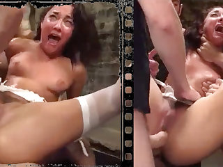 Messy stunner plowed xxx to five immense penises!