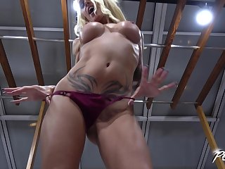Sophie Logan makes a cock cum inside for her to the fullest extent a finally riding in the money doggy