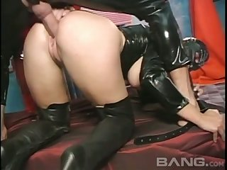 This masked slut loves having hardcore sex and she likes in the money from with little