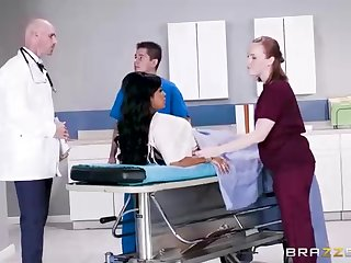 Buxom dark-hued doll surrounding a loved tat, Mary Jean is taking her doctor's massive man-meat, in his meeting