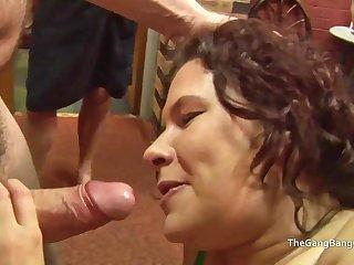 Heavy facial for slut which a man licks off