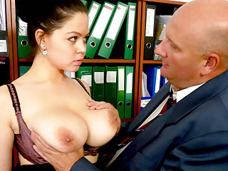 Boss made casting to secretary's huge tits