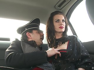 German MILF murk babes in costumes fuck one big hard cock