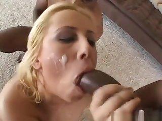 Georgia Peach Gets Her Face Covered In Chocolate Cum