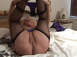 Big granny squirting superior to before say no to binding