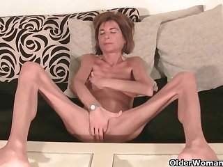 Very wasting away granny strips elsewhere and masturbates (compilation)