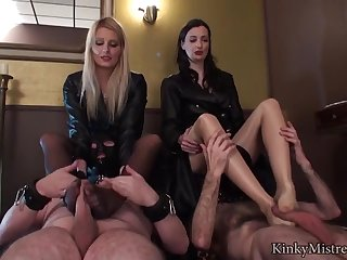 Girls Cut capers With Two Slaves - ANALDIN