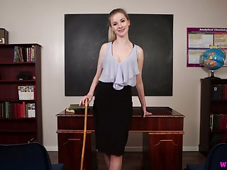 Handsome teacher Gracie gets naked and shows absent her ninnies