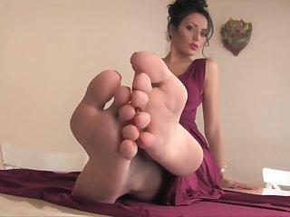 Beauty girl sexy feet