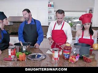 DaughterSwap - Teens Get Dicked Down Wide of Hot Daddies
