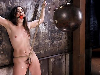 Sweet Juliette March gets tied up increased by punished by a stranger