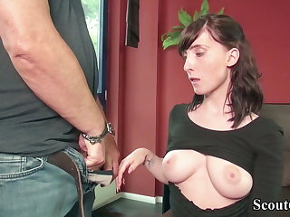 GERMAN SCOUT - 18YO LIA LOUISE Triptych SEX SEX ORGY BY OLD AND YOUNG CUTIE MAN