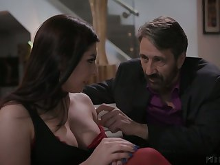 Lusty cowgirl anent nice titties Keira Croft deserves some hard anal pounding