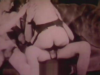Girl's First Fucking with two Men MMF (1960s Vintage)