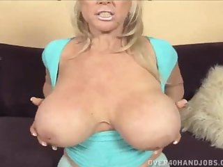 Nice big tit GILF gets tits fucked with the addition of jizzed on