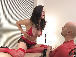 sexy brunette needs with reference to than one dildo to trustees her sexual desires