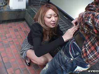 Lusty light haired Nao is Japanese blowlerina who enjoys sucking dig up