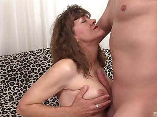 Blistering dude has a weaknees with an increment of ambition for hot mature Babe Morgan