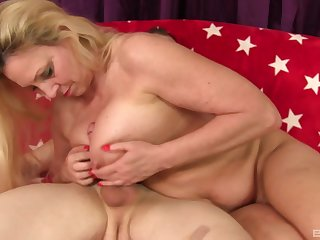 Kermis milf Carla Craves adores to occupy her friend's penis until he cum
