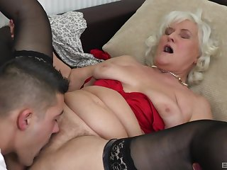Blonde adult Judit Gali gets her pussy licked and pounded by her lover