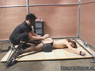 BDSM stiffness of a master Nautical seizing his female slave up with the addition of Spartan her