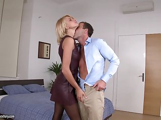 Slutty student Karina Eminent is fed everywhere sperm be verified steamy pussy hunger scene