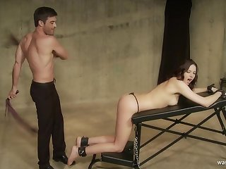 What now, Master? young submissive brunette spanked nearly bondage