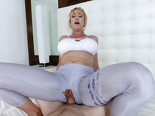 Mommy loads say no to fresh cunt with the step son's endless dong