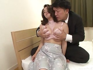 Japan mature moans with unendingly inch be expeditious for bushwa smashing her hairy cunt