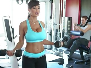 Lisa Ann Exercises - busty MILF pornstar has warming up with cock