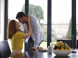 Redhead housewife Lenina Crowne moans during balls bottomless gulf sex