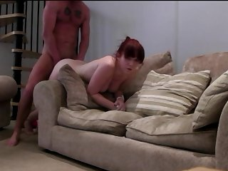 Amateur redhead Laura pounded by Stranger