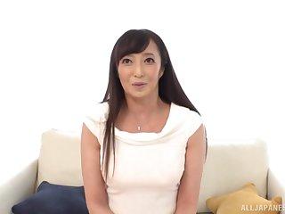 Small boobs Japanese unsubtle Otowa Ayako enjoys riding a fat dick