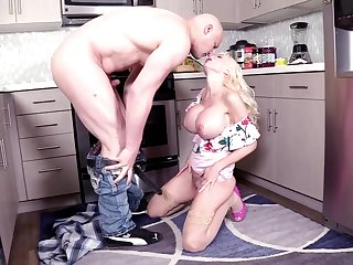 Astounding blonde wed Victoria Lobov gives head together with gets fucked in the refer to