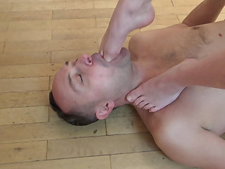 Foot Gagging With Foot Slaps!